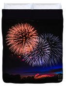 Red White And Blue Duvet Cover by Robert Bales