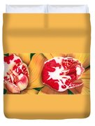 Red White And Yellow Duvet Cover