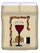 Red Wine Glass Duvet Cover