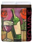 Red Wine Poster Duvet Cover