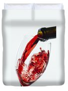 Red Wine Pour Duvet Cover