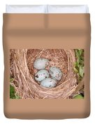 Red-winged Blackbird Nest Duvet Cover