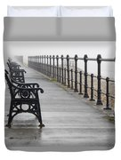 Redcar, North Yorkshire, England Row Of Duvet Cover