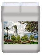 Redlands Temple Palm Duvet Cover