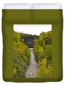 Redridge Steel Dam 7844 Duvet Cover by Michael Peychich