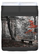 Reds In The Woods Duvet Cover