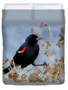 Redwing Blackbird Duvet Cover