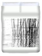 Reeds On The Turtle Flambeau Flowage Duvet Cover