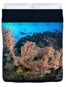 Reef Scene With Sea Fan, Papua New Duvet Cover