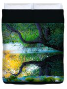 Reflected Tree In Pastel Landscape Duvet Cover