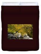 Reflecting Autumn Tree Duvet Cover