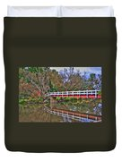 Reflecting Bridge Duvet Cover