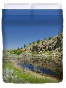 Reflecting Cliffs Duvet Cover