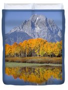 Reflection At Oxbow Bend Duvet Cover