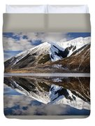 Reflection In Lake Pearson, Castle Hill Duvet Cover