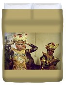 Reflection Of A Kecak Dancer Duvet Cover
