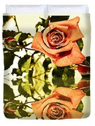 Reflection Of A Warm Rose Duvet Cover