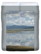Reflection Of Clouds On Eagle Nest Lake Duvet Cover