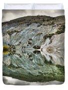 Reflection On Blue Lake, St Bathans Duvet Cover