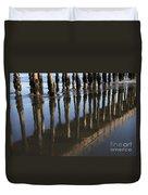 Reflections Avila Beach California Duvet Cover