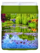 Reflections At Giverny Duvet Cover