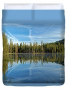 Reflections At The Summit Duvet Cover