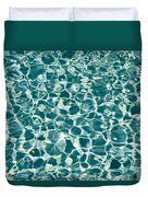 Reflections In A Swimming Pool Duvet Cover