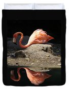 Reflections Of A Flamingo Duvet Cover