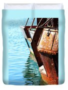 Reflections Of A Rust Bucket Duvet Cover