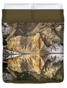 Reflections Of Clay Cliffs In Blue Lake Duvet Cover