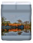 Reflections On Blue Duvet Cover