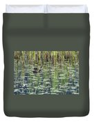 Reflections On Duck Pond Duvet Cover by Sharon Talson