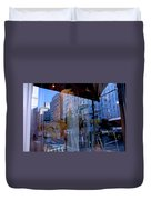 Reflections On Madison Avenue Duvet Cover