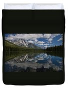 Reflections On Mount Moran Duvet Cover