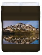 Reflections On Red Eagle Mountain Duvet Cover