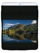 Reflections On Salmon Lake Duvet Cover