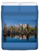 Reflections On Schwabacher Landing Duvet Cover
