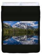 Reflections On String Lake Duvet Cover