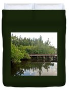 Reflections On The North Fork River Duvet Cover