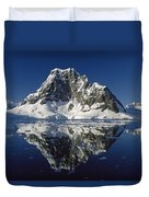 Reflections With Ice Duvet Cover