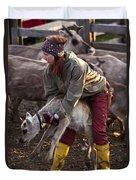 Reindeer Farm Work Duvet Cover
