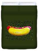 Relishing A Hotdog Duvet Cover