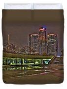 Renaissance Center Detroit Mi Duvet Cover