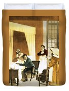 Rene Laennec, French Physician Duvet Cover