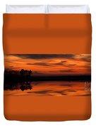 Reservoir Sunset Duvet Cover