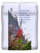 Restful Flowers Duvet Cover