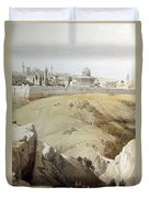 Resting Near Jerusalem Duvet Cover