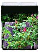 Resting Rosebuds Enhanced Duvet Cover