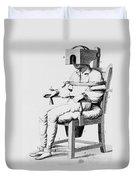 Restraining Chair 1811 Duvet Cover