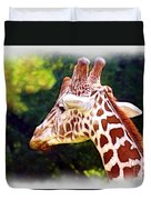 Reticulated Giraffe Duvet Cover